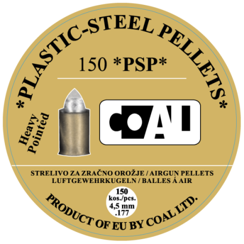 Airgun Pellets WP PSP Heavy Pointed - cal.4,5 - 150 pcs