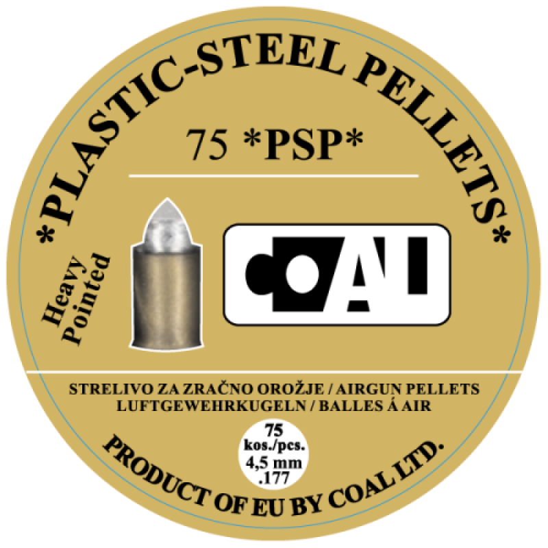 Airgun Pellets WP PSP Heavy Pointed - cal.4,5 - 75 pcs