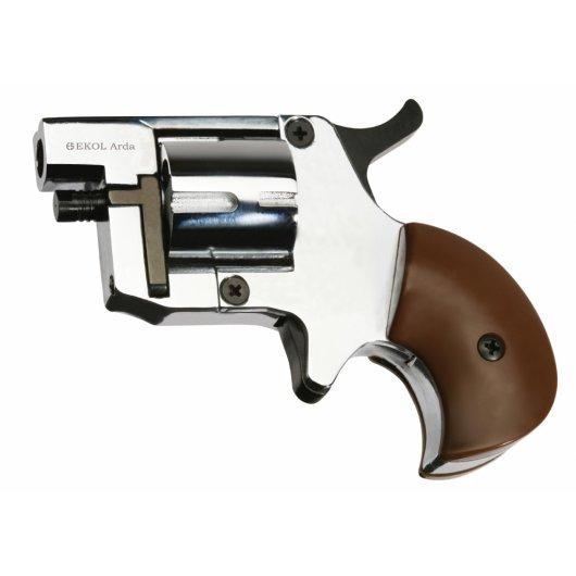 Газов мини револвер Ekol Arda полиран хром - кал. 8 мм