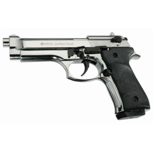 Газов пистолет Ekol Jackal Dual Magnum - полиран хром