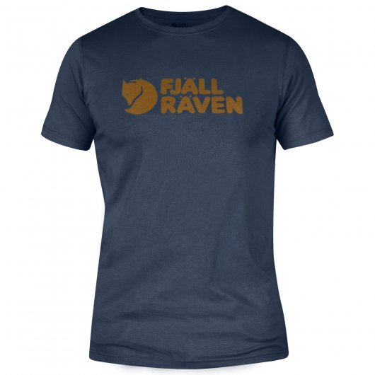 Fjall Raven Logo T-Shirt in navy