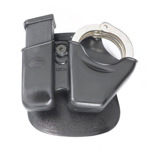 Кобур Fobus CU9G - комбиниран за 9 мм пълнител и белезници /ротационен, с лопатка/