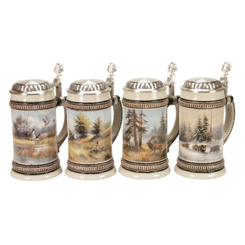 Beer Stein Fritzmann - Hunting in spring