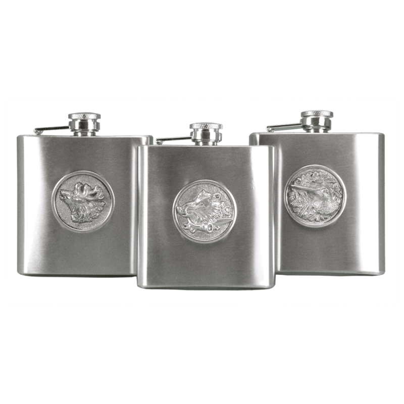 Fritzmann Stainless steel hip flask with deer
