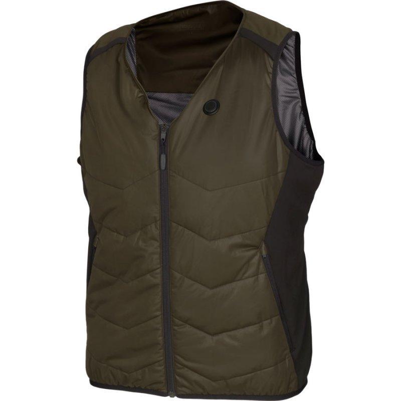 Harkila Heat V-neck waistcoat in willow green/black
