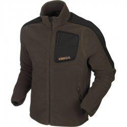 Harkila Venjan fleece jacket in shadow brown and willow green