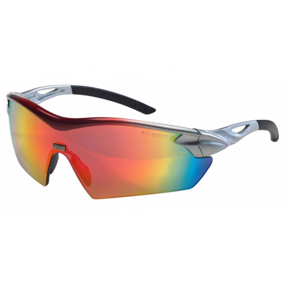 MSA Racers safety glasses /red mirror/