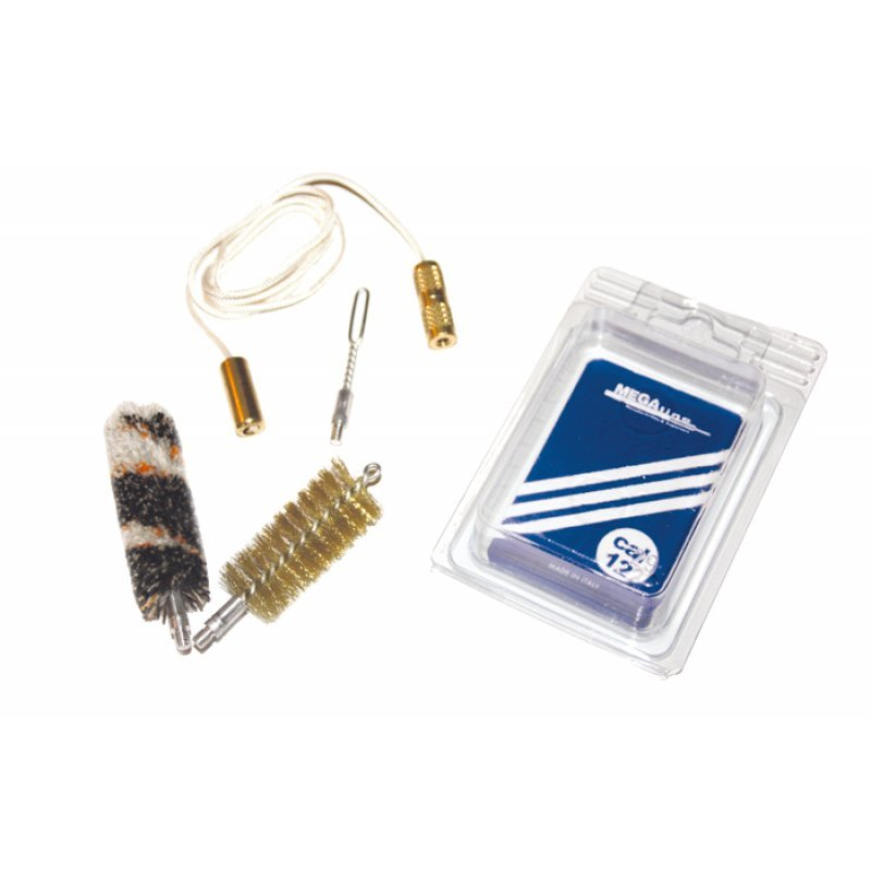 Shotgun cleaning kit with rope - in blister pack - cal.12