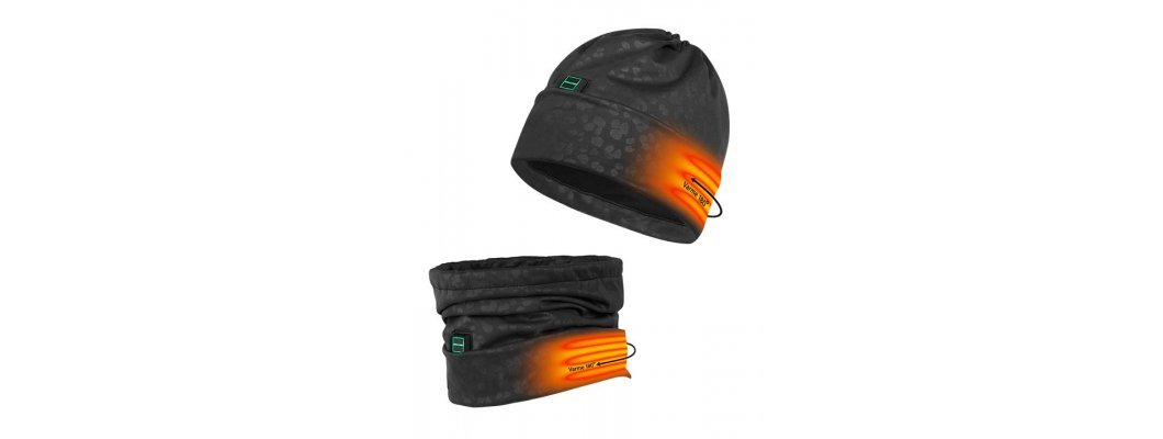 Hat / Neck-buff and gloves with battery heating