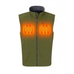 Nordic Heat Softshell vest in green color