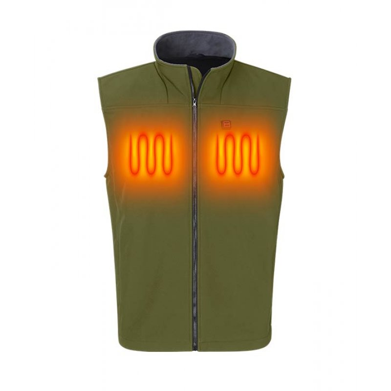 Nordic Heat Softshell vest in green color