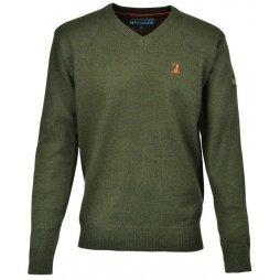 Пуловер с бродерия Percussion - цвят каки