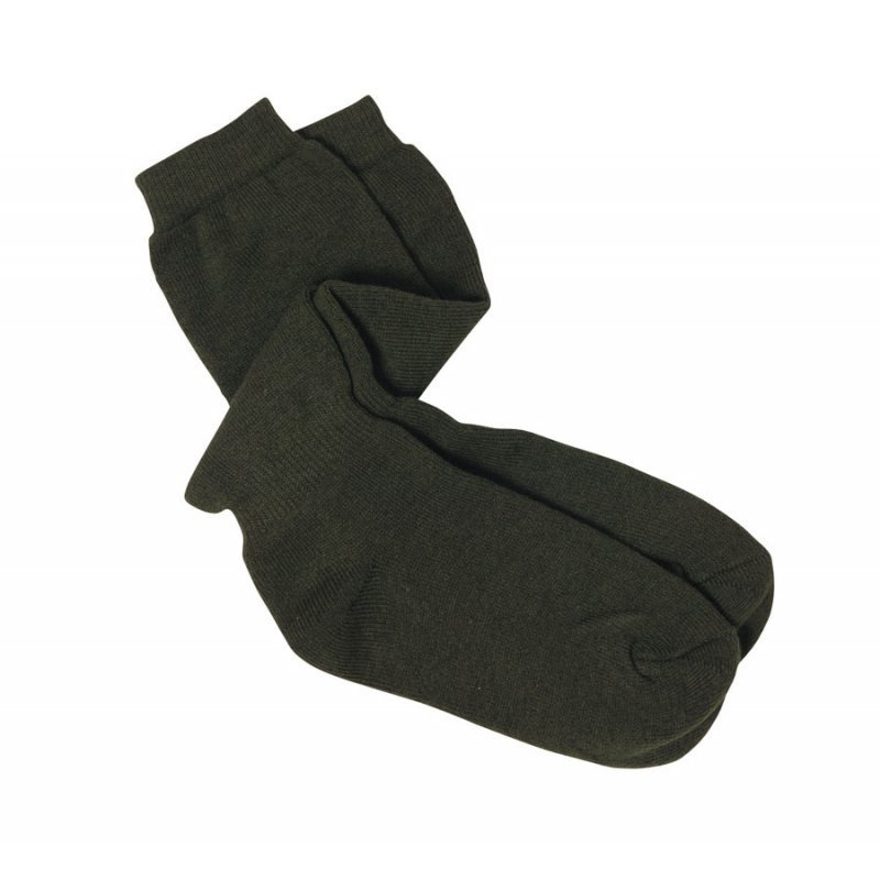 Percussion Terry-cloth khaki socks