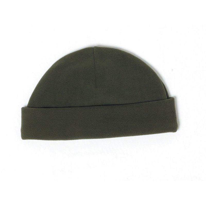 Percussion winter hat in khaki color