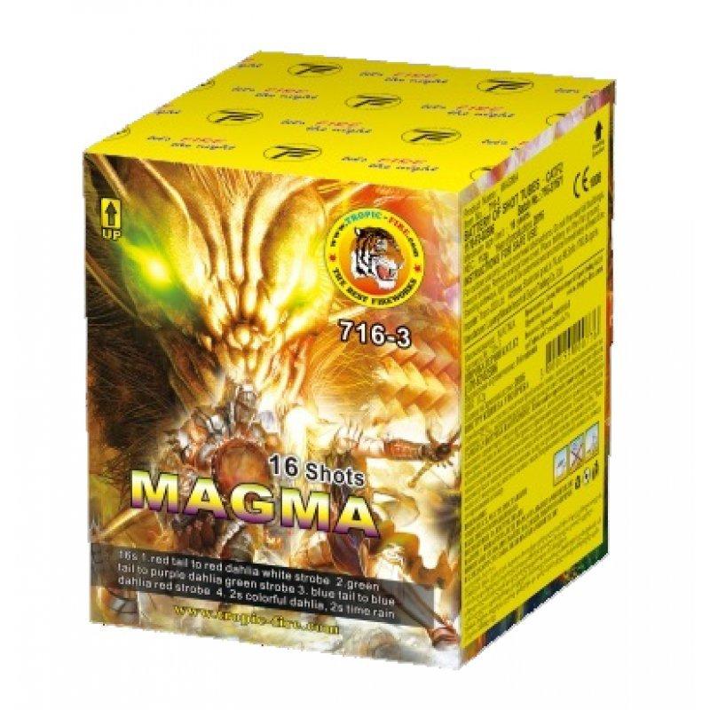 Pyrotechnic cakes Magma - 16 shots