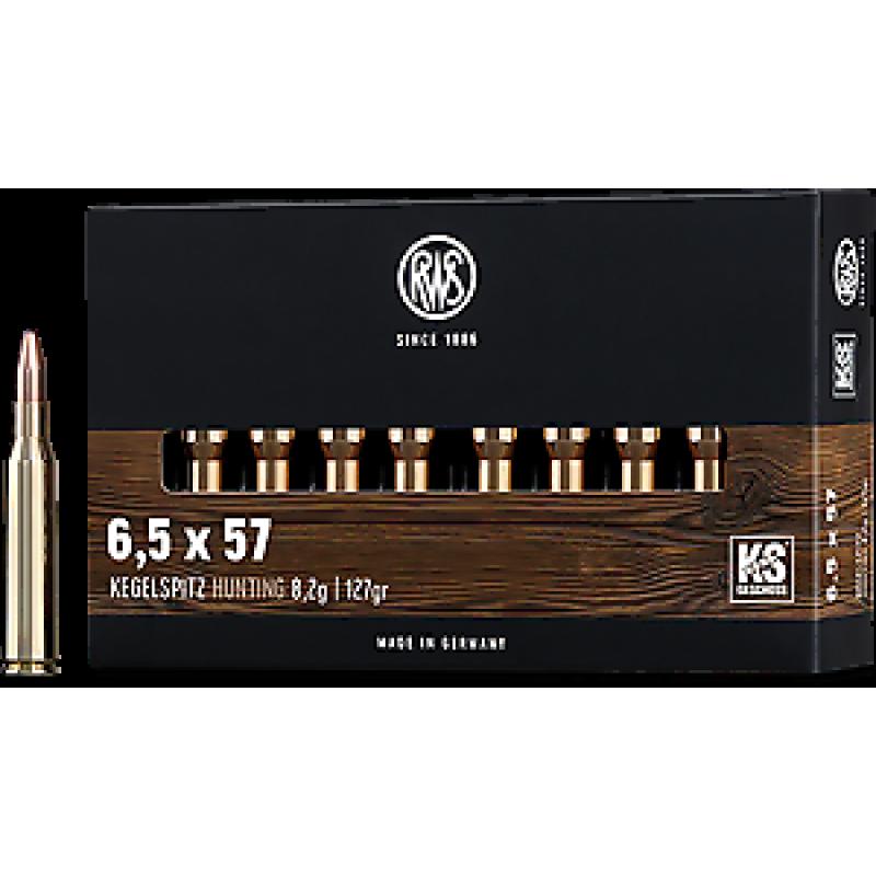 RWS rifle cartridges 6,5 x 57 KS