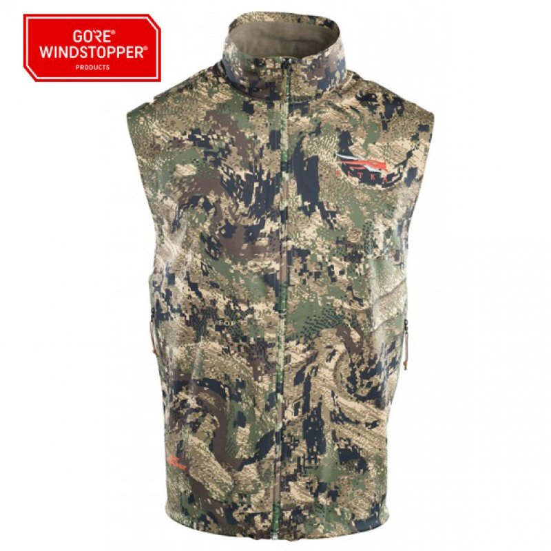 Sitka Mountain Vest in Ground Forest
