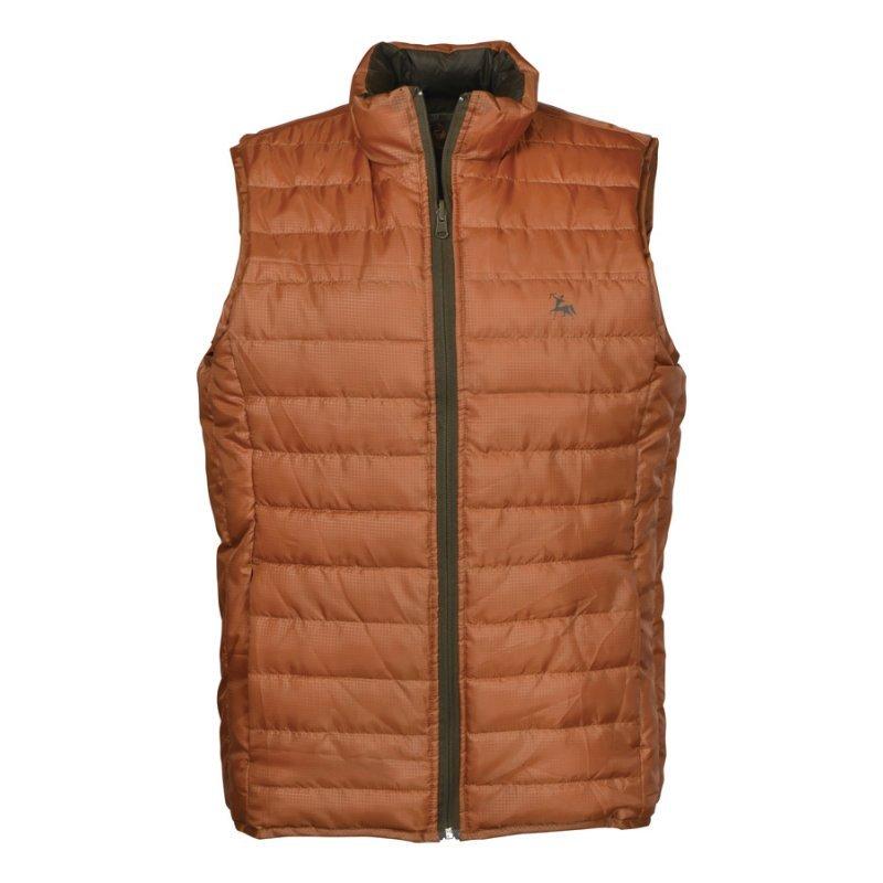 Verney Carron Week-end reversible vest in brown/rust
