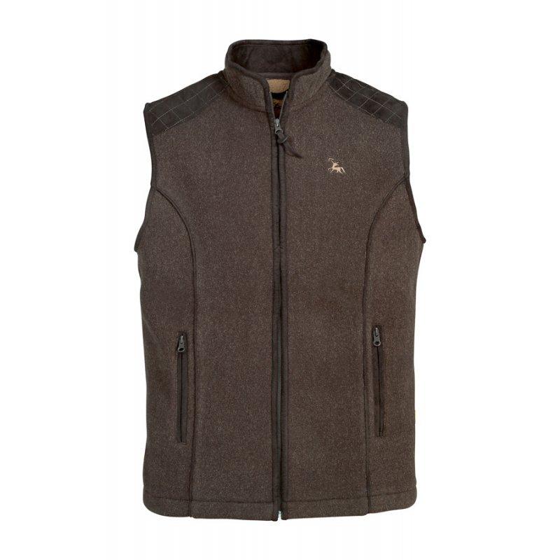 Verney Carron Presly vest in dark brown