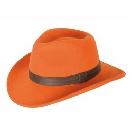 Verney Carron Woolchap hat in orange