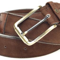 Courteney Belt in brown suede