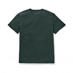 Filson Merino wool short sleeve crew shirt - dark olive