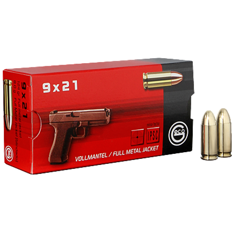 Handgun ammunition GECO 9 x 21 VM