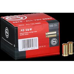 Geco cases for pistol cartridges - 40 S&W - 1000 pcs/box