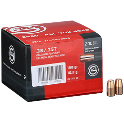 Geco reloading bullets - 38 Special/.357 Mag. FMJ - 200 pcs/box
