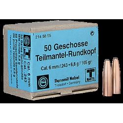 Geco reloading bullets - 243 SP - 50 pcs/box