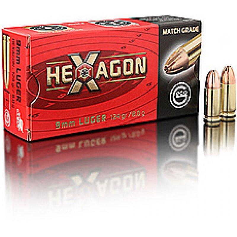 Handgun ammunition GECO 9 x 19 Luger VM HEXAGON