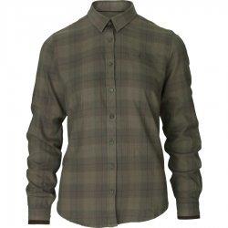Seeland Range lady shirt - pine green check