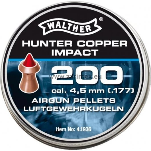 Сачми за въздушно оръжие Walther Hunter Copper Impact
